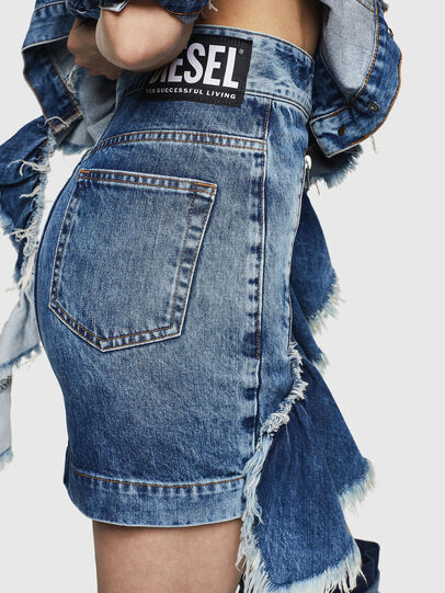 Diesel - DE-AGGIE, Medium blue - Skirts - Image 3