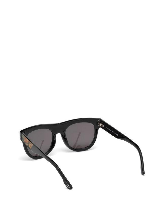 Diesel - DM0160, Black/Orange - Sunglasses - Image 2