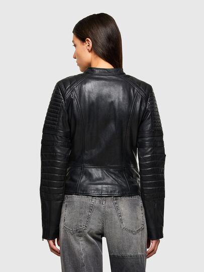 Diesel - L-IGE-NEW-A, Black - Leather jackets - Image 2