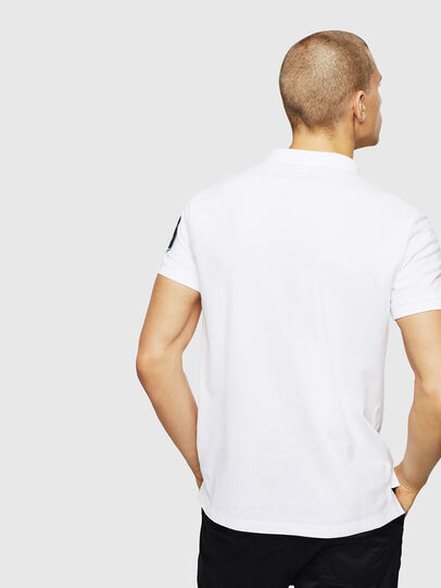 Diesel - T-POLO-PATCHES, White - Polos - Image 3