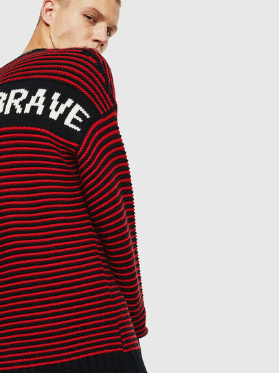 Diesel - K-BALLIS, Red/Black - Knitwear - Image 7