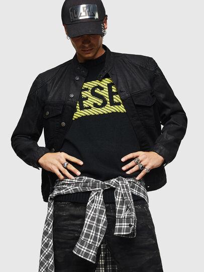 Diesel - D-DANY, Black/Dark grey - Denim Jackets - Image 4