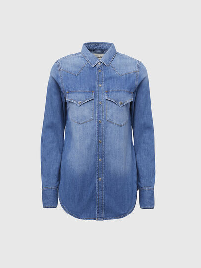 Diesel - DE-RINGY, Light Blue - Denim Shirts - Image 1