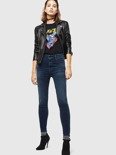 Diesel - Slandy High 084UT, Dark Blue - Jeans - Image 5