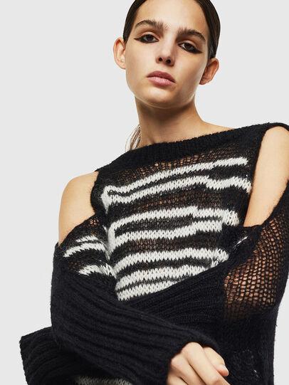 Diesel - M-VANIX, Black/White - Knitwear - Image 3