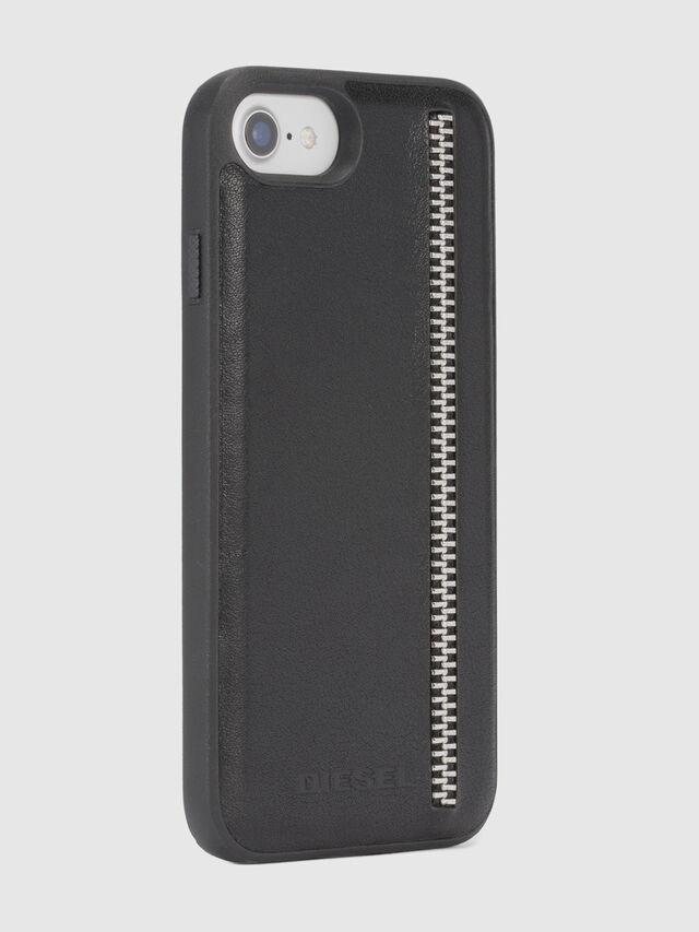 Diesel ZIP BLACK LEATHER IPHONE 8 PLUS/7 PLUS/6s PLUS/6 PLUS CASE, Black - Cases - Image 5