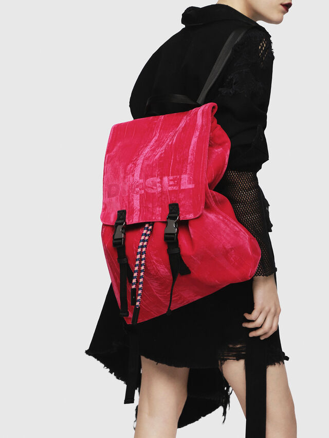 Diesel - F-MUSILE BACKPACK, Pink Fluo - Backpacks - Image 5