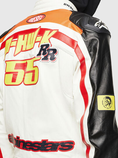 Diesel - ASTARS-LPATCH-1A, White - Leather jackets - Image 5