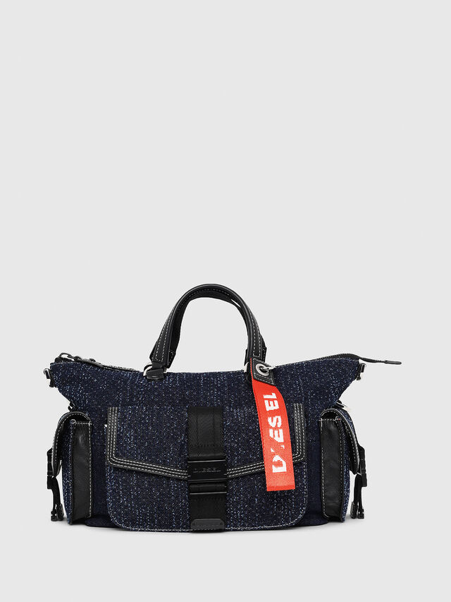 Diesel - MISS-MATCH SATCHEL M, Blue Jeans - Satchels and Handbags - Image 1