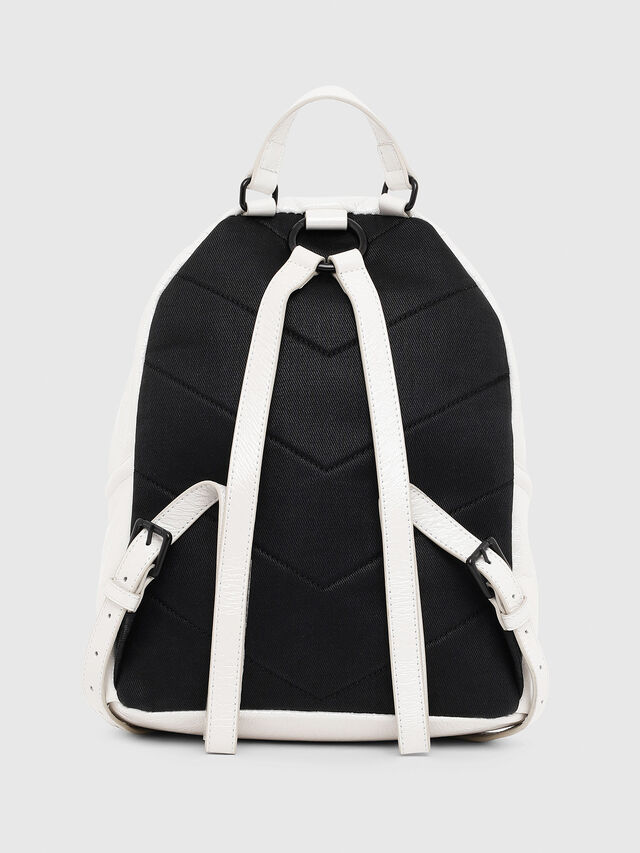 Diesel - LE-ZIPPER BACKPACK, White - Backpacks - Image 2