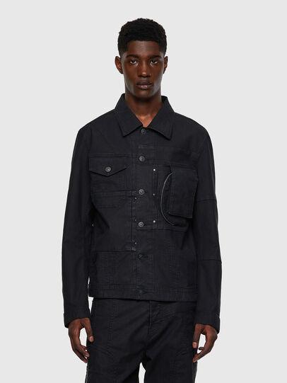 Diesel - D-COSNIL-SP JOGGJEANS, Black - Denim Jackets - Image 1