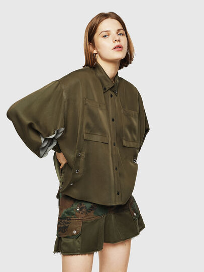 Diesel - C-LEXYS, Military Green - Shirts - Image 1