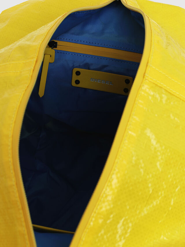 Diesel - D-CAGE SHOPPER, Yellow - Shopping and Shoulder Bags - Image 4