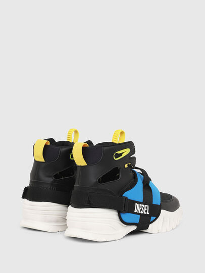 Diesel - S-SHARQUEZ MID, Black - Sneakers - Image 3