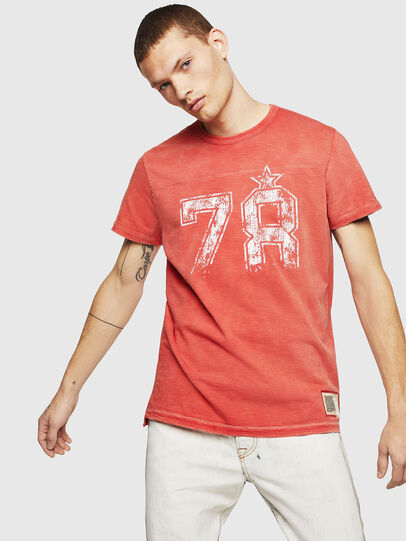 Diesel - T-DIEGO-CUT-AB, Fire Red - T-Shirts - Image 1