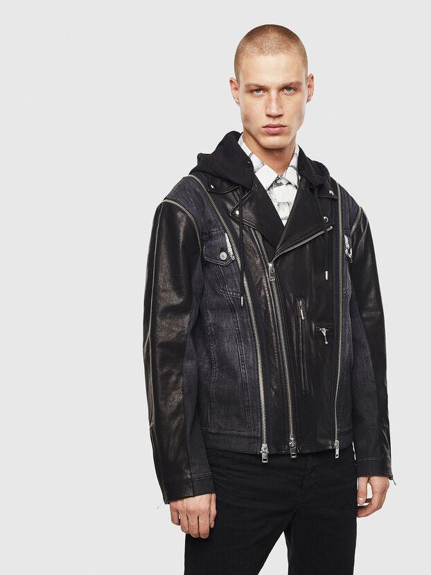 D-LOSTY-SY, Black - Leather jackets