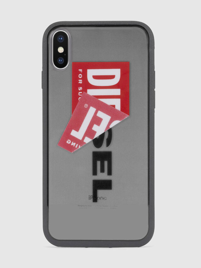 Diesel STICKER IPHONE X CASE, Black - Cases - Image 2