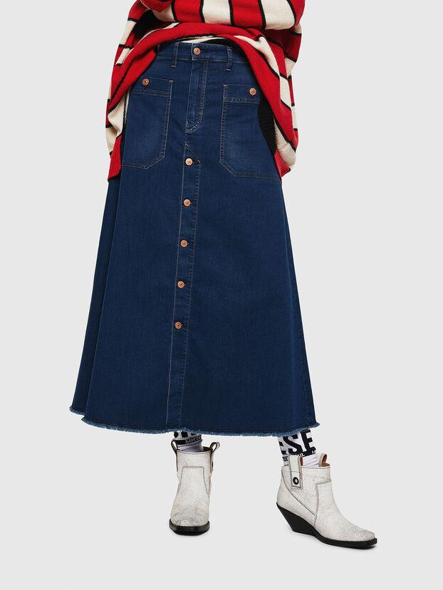D-RHITA JOGGJEANS, Medium blue - Skirts