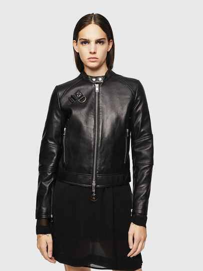 Diesel - L-SUZA, Black - Leather jackets - Image 1