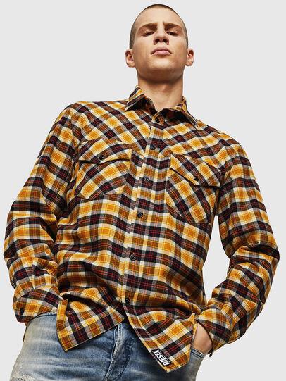 Diesel - S-TOLSTOJ, Yellow Ocher - Shirts - Image 5