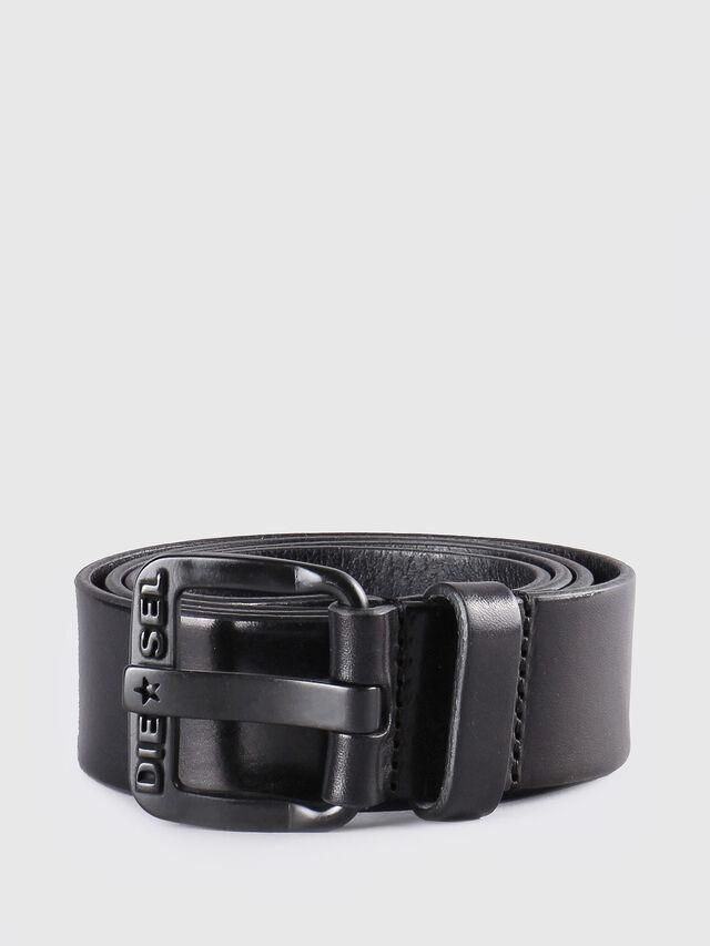 Diesel - B-STAR, Black Leather - Belts - Image 1
