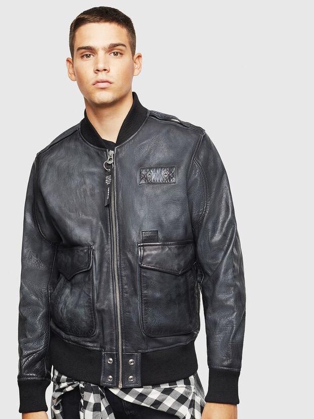 L-OIUKI, Black - Leather jackets