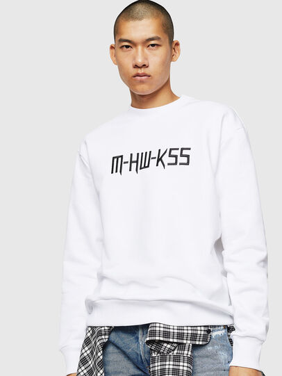 Diesel - S-LINK-MOHAWK, White - Sweaters - Image 1