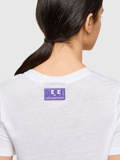 Diesel - T-SILY-A8, White - T-Shirts - Image 3