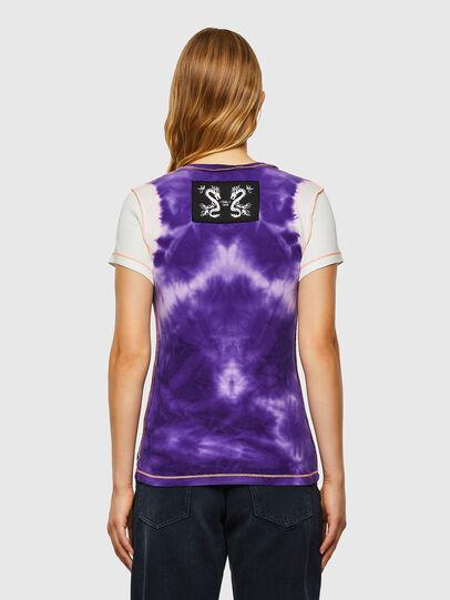 Diesel - T-SUPERY-V10, White/Violet - T-Shirts - Image 2