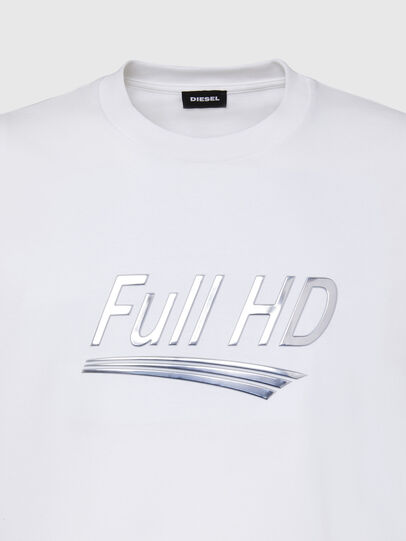 Diesel - T-JUST-SLITS-X83, White - T-Shirts - Image 3