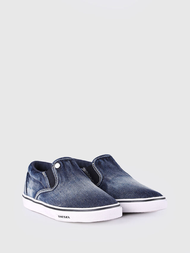 Diesel - SLIP ON 21 DENIM CH, Blue Jeans - Footwear - Image 2