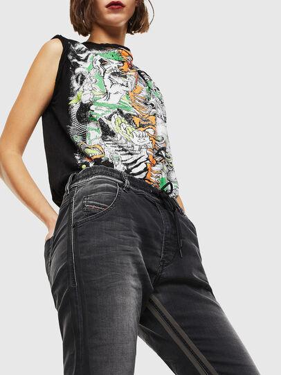 Diesel - Krailey JoggJeans 0094Q, Black/Dark grey - Jeans - Image 4