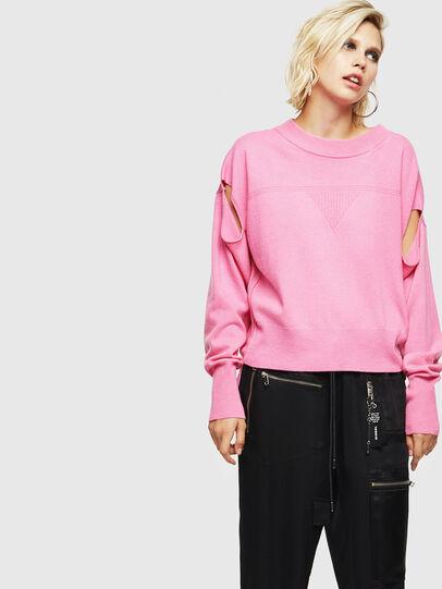 Diesel - M-CRISTAL, Pink - Knitwear - Image 1