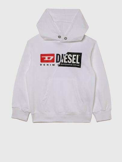 Diesel - SGIRKHOODCUTYX OVER, White - Sweaters - Image 1