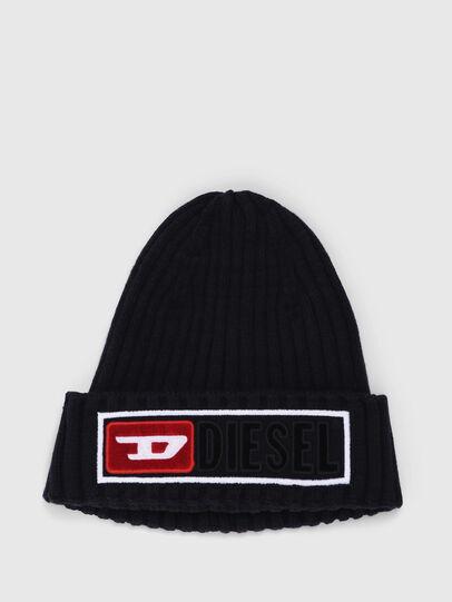 Diesel - K-CODER-B, Bright Black - Knit caps - Image 1