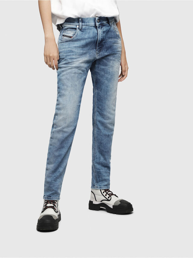 Diesel - Krailey JoggJeans 080AS, Medium blue - Jeans - Image 1