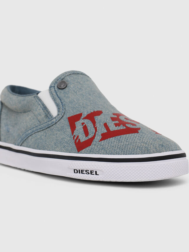 Diesel - SLIP ON 21 DENIM YO, Blue Jeans - Footwear - Image 4