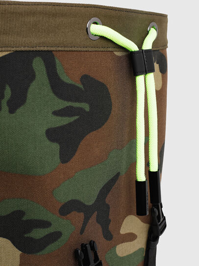 Diesel - VOLPAGO BACK, Green Camouflage - Backpacks - Image 4