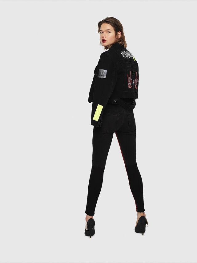 Diesel - DE-POPPY-E, Black Jeans - Denim Jackets - Image 6