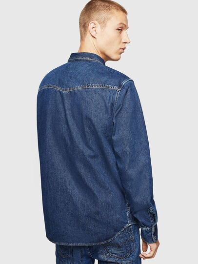 Diesel - D-EAST-P, Medium blue - Denim Shirts - Image 2
