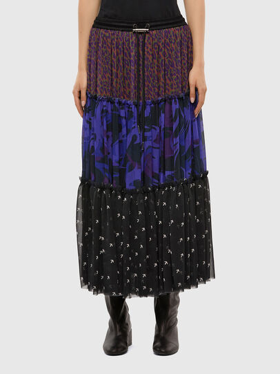 Diesel - O-ILARY, Blue/Black - Skirts - Image 1