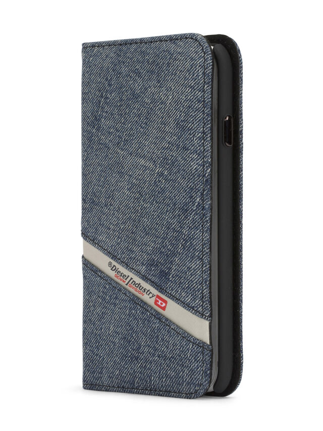 Diesel - DENIM IPHONE 8 PLUS/7 PLUS FOLIO, Blue Jeans - Flip covers - Image 2