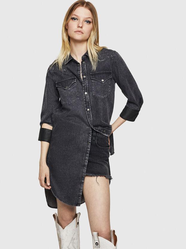 DE-BLANK, Black/Dark grey - Dresses