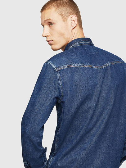 Diesel - D-EAST-P, Medium blue - Denim Shirts - Image 4