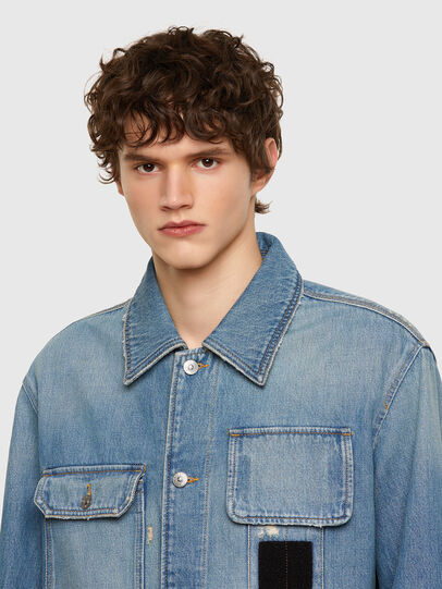 Diesel - D-SERLE, Medium blue - Denim Jackets - Image 4