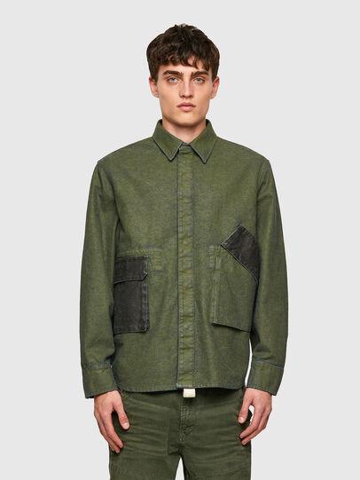 Diesel - D-CORU-SP, Military Green - Denim Shirts - Image 1