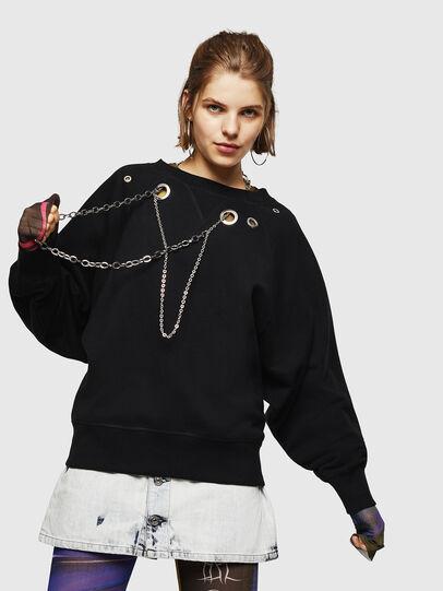 Diesel - F-HENNY-B, Black - Sweaters - Image 4