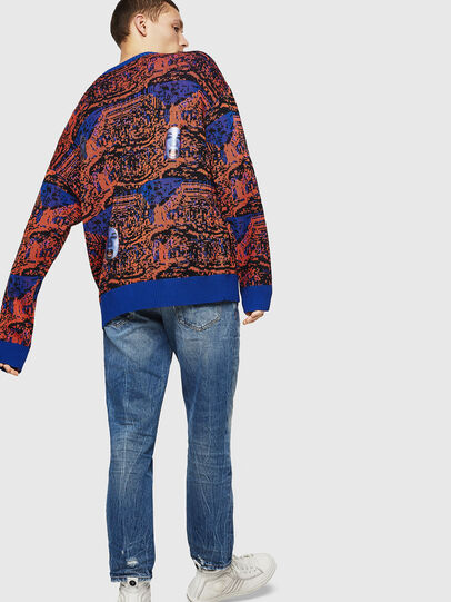 Diesel - K-FACE, Red/Blue - Knitwear - Image 2