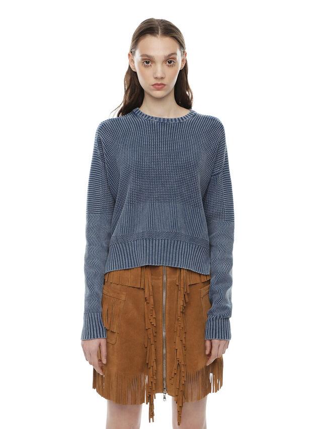 Diesel - MERIB, Light Blue - Knitwear - Image 1
