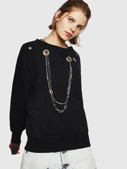 Diesel - F-HENNY-B, Black - Sweaters - Image 1